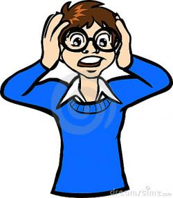 Shocking clipart unhappy person