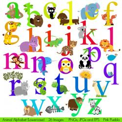 Typeface clipart collage