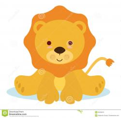 Small clipart baby lion
