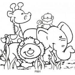 Safari clipart black and white