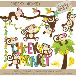 Safari clipart cheeky monkey