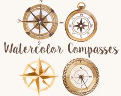 Safari clipart compass map
