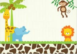 Safari clipart invitation