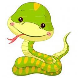 Python clipart cute