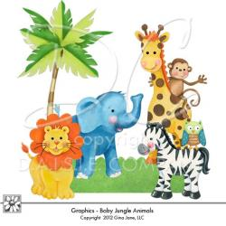 Safari clipart themed