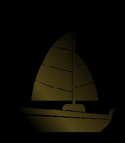 Sailboat clipart abstract