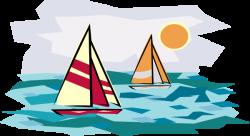 Sailing Ship clipart sunset