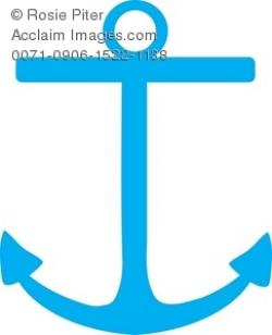 Anchor clipart turquoise