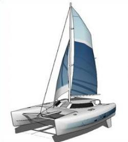 Sailboat clipart catamaran