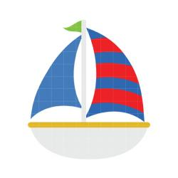 Sailing Boat clipart cute