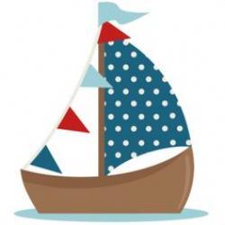 Sailboat clipart cute
