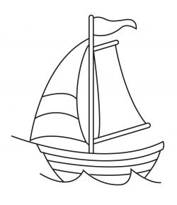 Drawn yacht simple