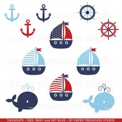 Sailing Boat clipart anchor