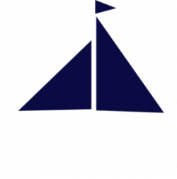 Sailboat clipart navy blue