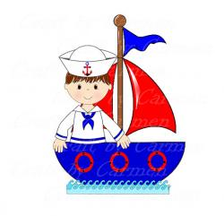 Sailboat clipart sailor boy