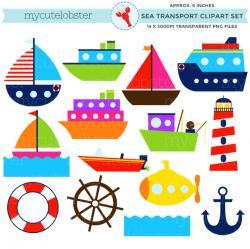 Sailboat clipart sea transport