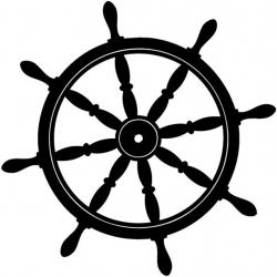 Sailboat clipart ship steering wheel