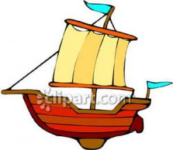 Sailboat clipart toy
