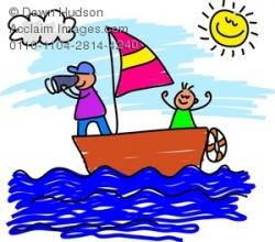 Yacht clipart family boating
