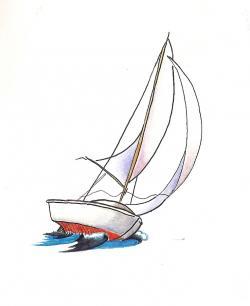 Sailboat clipart wind