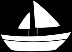 Canoe clipart outline