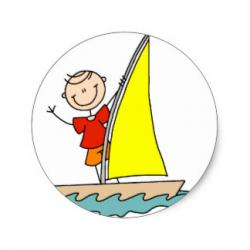 Sailing Boat clipart stick figure