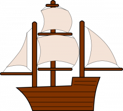 Sailing Boat clipart wooden ship