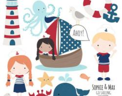 Sailor clipart octopus