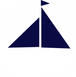 Sailing clipart navy blue