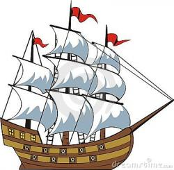 Sailing Boat clipart old ship