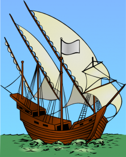 Sailing Ship clipart caravel