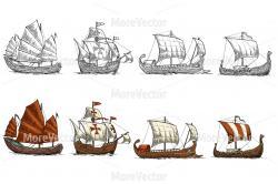Caravel clipart greek ship
