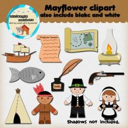 Sailing Ship clipart mayflower compact