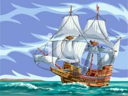 Sailing Ship clipart rough sea