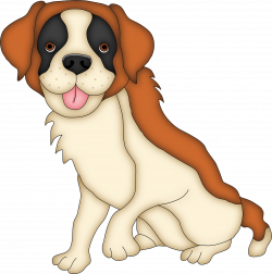 Saint Bernard clipart cute dog