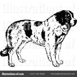 St. Bernard clipart therapy dog