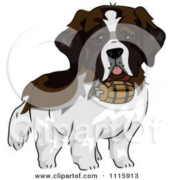 St. Bernard clipart cute dog
