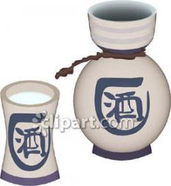 Sake clipart