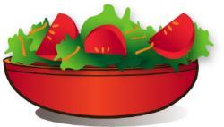Lettuce clipart tomato salad