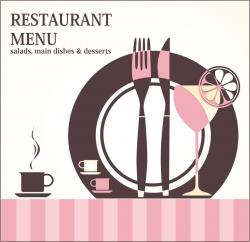 Cutlery clipart menu design