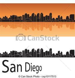 San Diego clipart San Diego Skyline Silhouette
