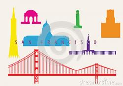 San Francisco clipart San Francisco Landmark Clipart