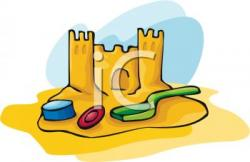 Sand Castle clipart beach toy