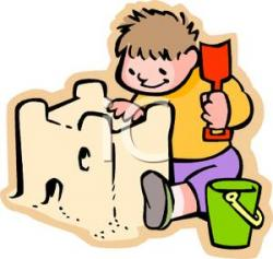 Sand Castle clipart building a