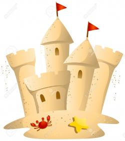 Sand Castle clipart cartoon