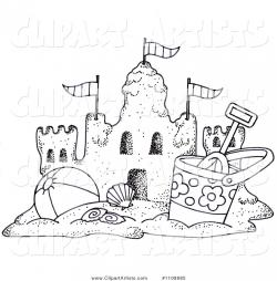 Sand Castle clipart sand bucket