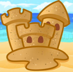 Sand Castle clipart simple cartoon