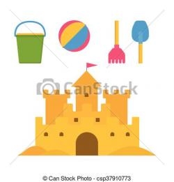 Sand Castle clipart summer activity