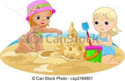 Sand Castle clipart sunny day beach