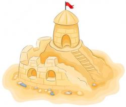 Sand Castle clipart transparent